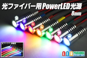 画像1: 光ファイバー用PowerLED光源 8mm