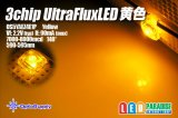 3chip UltraFluxLED ドーム黄色