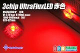 3chip UltraFluxLED ドーム赤色