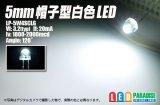 5mm帽子型白色LED LP-5W4SCLG