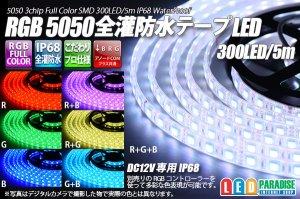 画像1: 全灌防水テープLED 60LED/m IP68 RGB 1-5m