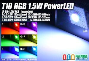 画像1: T10 RGB 1.5W PowerLED LP-T10-1.5W AnodeCOM