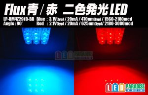 画像1: Flux青/赤 二色発光LED
