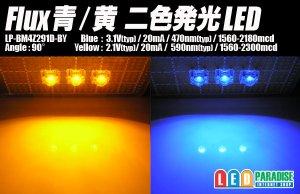画像1: Flux青/黄 二色発光LED