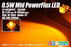 画像1: 0.5W MIDPowerFlux 黄色 LP-5FCIHYCT
