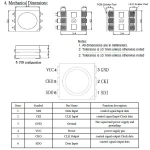 画像2: SK9822W 5050 IC搭載LED