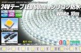 24VテープLED60LED/mシリコン防水 白色 10m