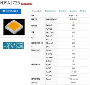 画像2: 日亜 NJSA172BT Amber 16mm基板