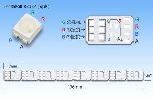 画像2: 3528RGB 8LED基板 DC5V用