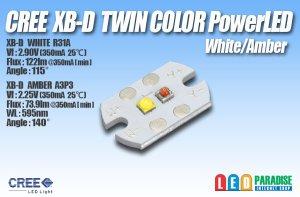 画像1: CREE XB-Dツインカラー PowerLED White/Amber