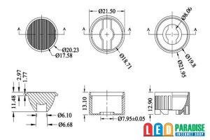 画像3: オプティカルレンズ 15°×50°
