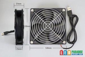 画像2: 12cm USB DC FAN DC5V