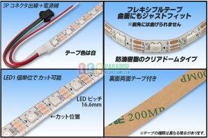 画像2: 防滴 NeoPixel RGB TAPE LED