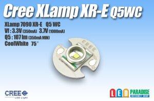画像1: CREE XR-E Q5WC白色 16mm基板付