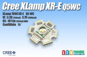 画像1: CREE XR-E Q5WC白色 20mm基板付