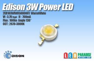 画像1: Edison 3W電球色 2ER103WW05000001