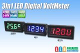 3in1 LED Digital VoltMeter