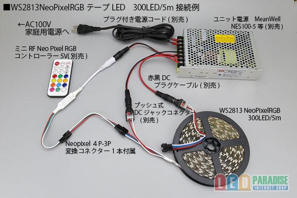 画像4: WS2813 NeoPixel RGBテープLED 60LED/m